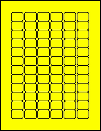 Fluorescent Yellow Canary Yellow 72 up sheet