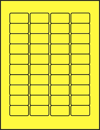 Canary Yellow dayglo fluorescent labels 40 up C15878