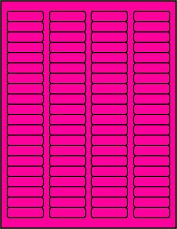 Pink dayglo fluorescent labels P1705